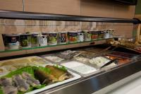 Breakfast buffet- fish, cheese and salads