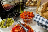 Breakfast buffet-fresh vegetables and olives